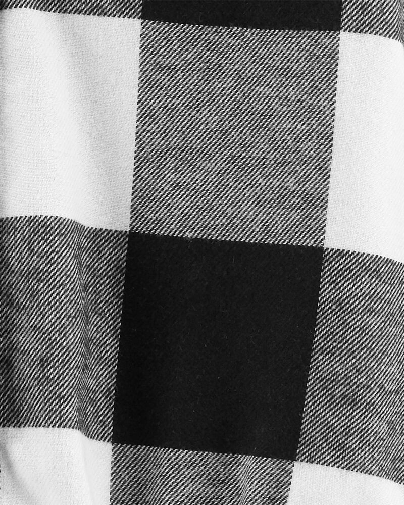 Ensemble 2 pièces cache-couche à motif écossais et pantalon à bretelles, , hi-res
