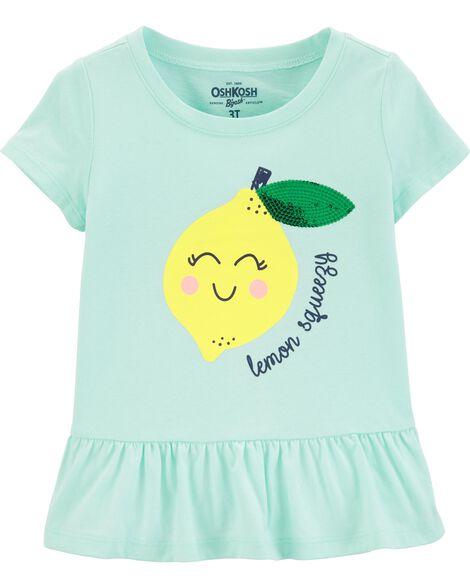 Haut à basque avec citrons