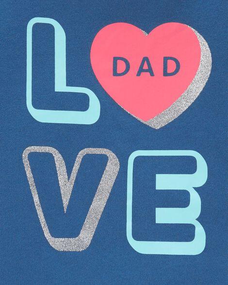 Glitter Love Dad Jersey Tee