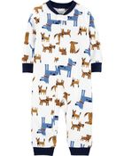 1-Piece Dog Fleece Footless PJs, , hi-res