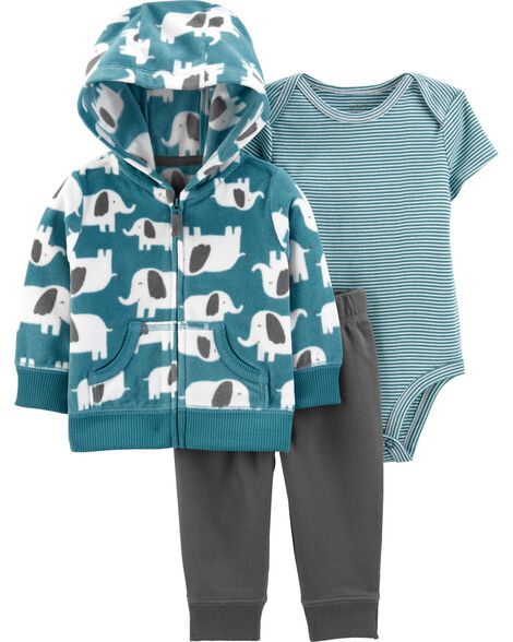 3-Piece Elephant Little Jacket Set