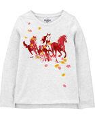 T-shirt à chevaux, , hi-res