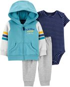 3-Piece Striped Little Jacket Set, , hi-res