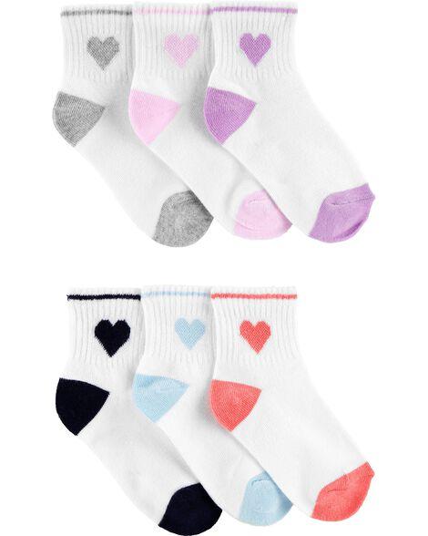 6 paires de chaussettes à cœurs