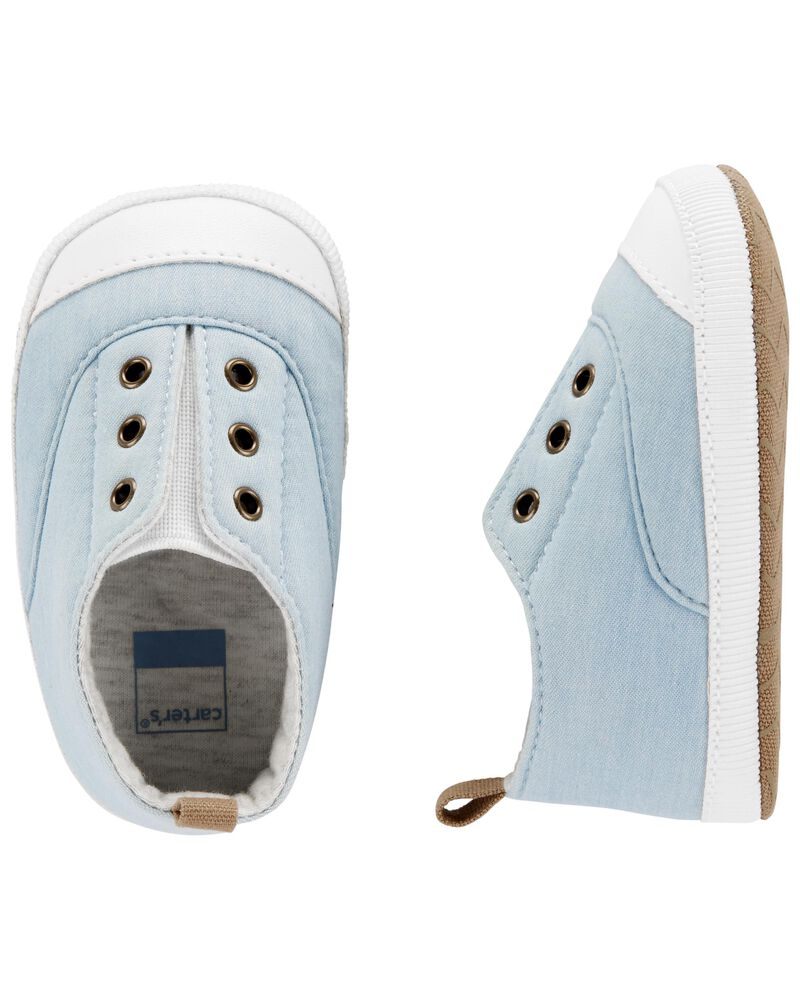 Chambray Sneaker Baby Shoes, , hi-res
