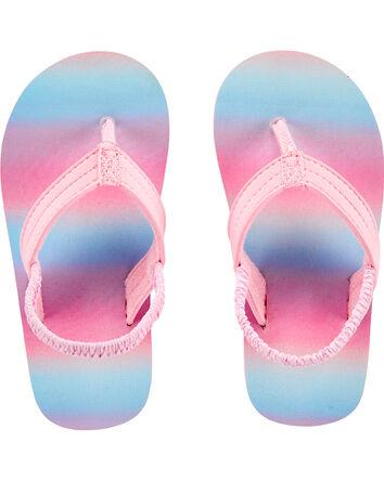 Rainbow Stripe Flip Flops