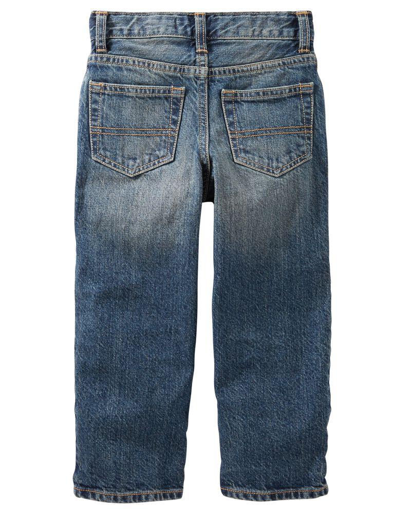 Jeans classique - délavage moyen usé - coupe étroite, , hi-res