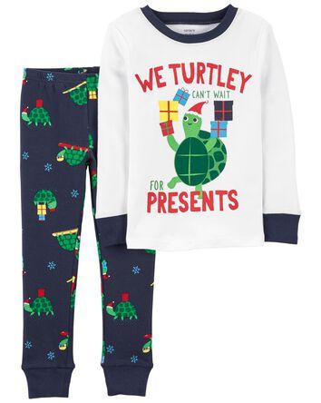 Pyjama 2 pièces en coton ajusté à t...