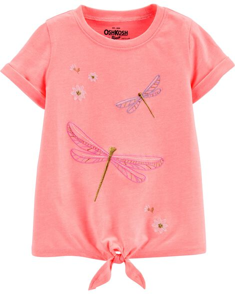 Dragonfly Tie-Front Tee