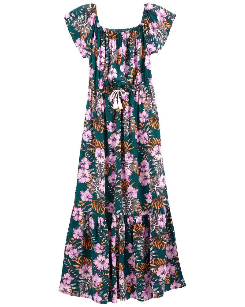 Tween Tropical Maxi Dress, , hi-res