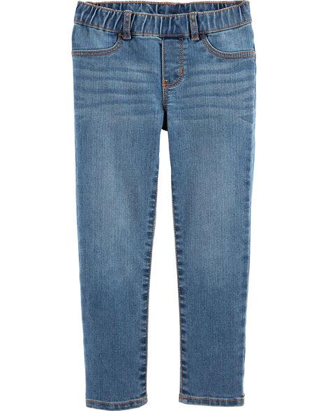 Pull-On Jeggings - Laurel Blue Wash