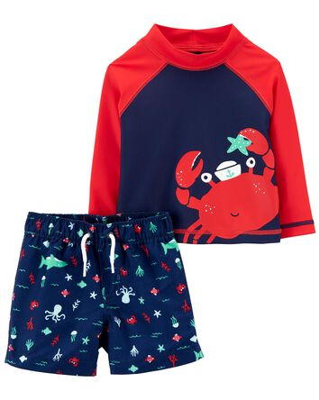 Crab Rashguard Set