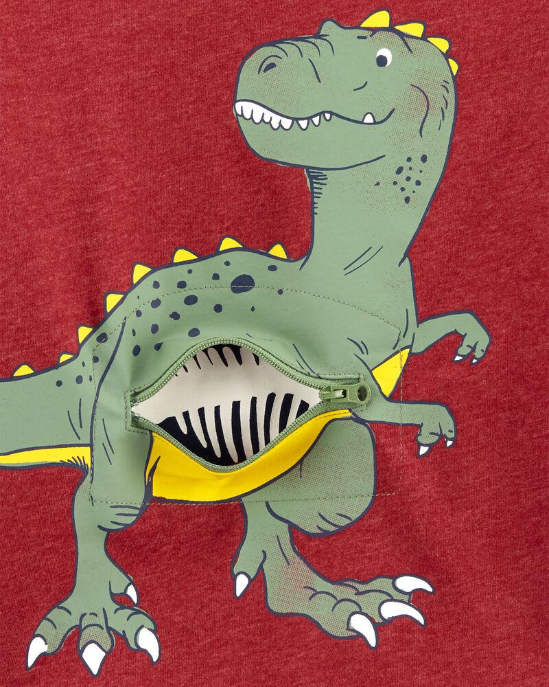 Dinosaur Peek-A-Boo Snow Yarn Tee, , hi-res