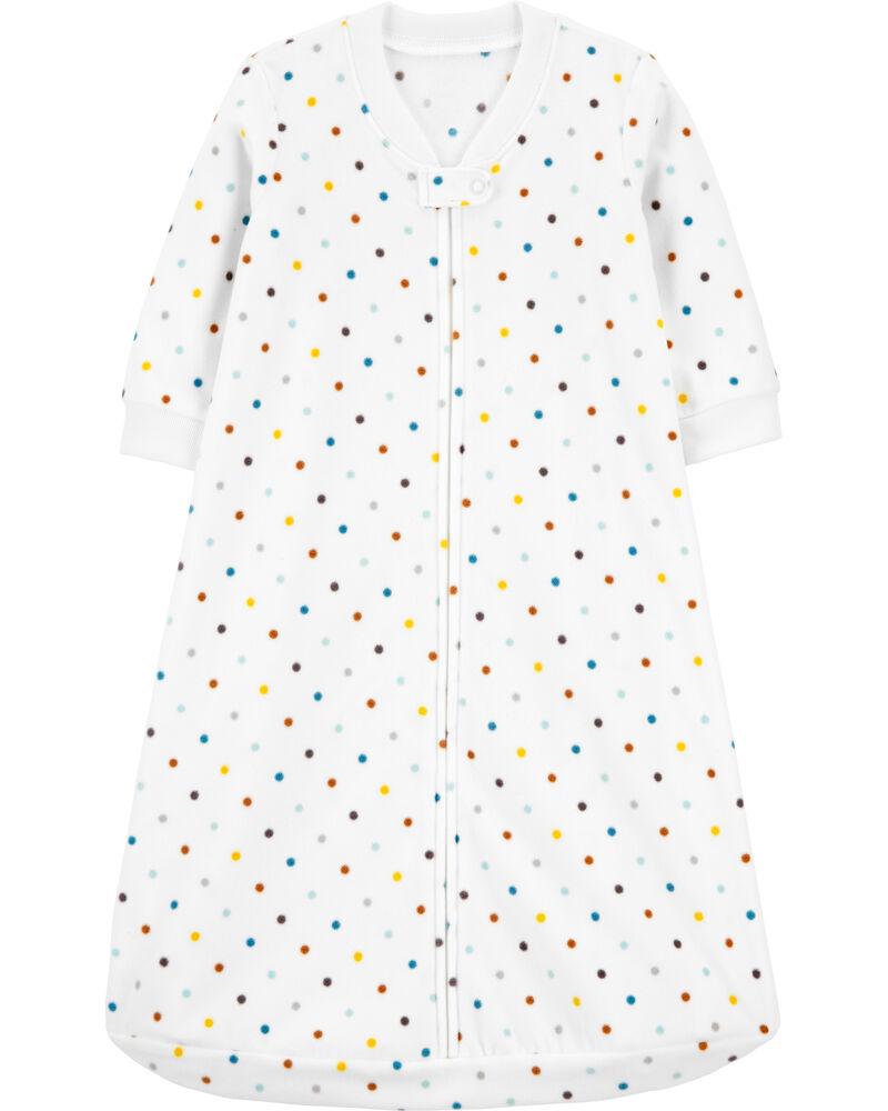Polka Dot Fleece Sleep Bag, , hi-res