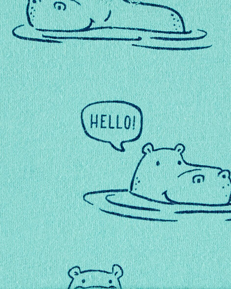 Hippo Jersey Romper