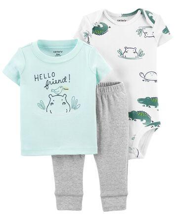 3-Piece Hippo Little Character Set