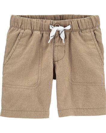 Pull-On Linen Shorts