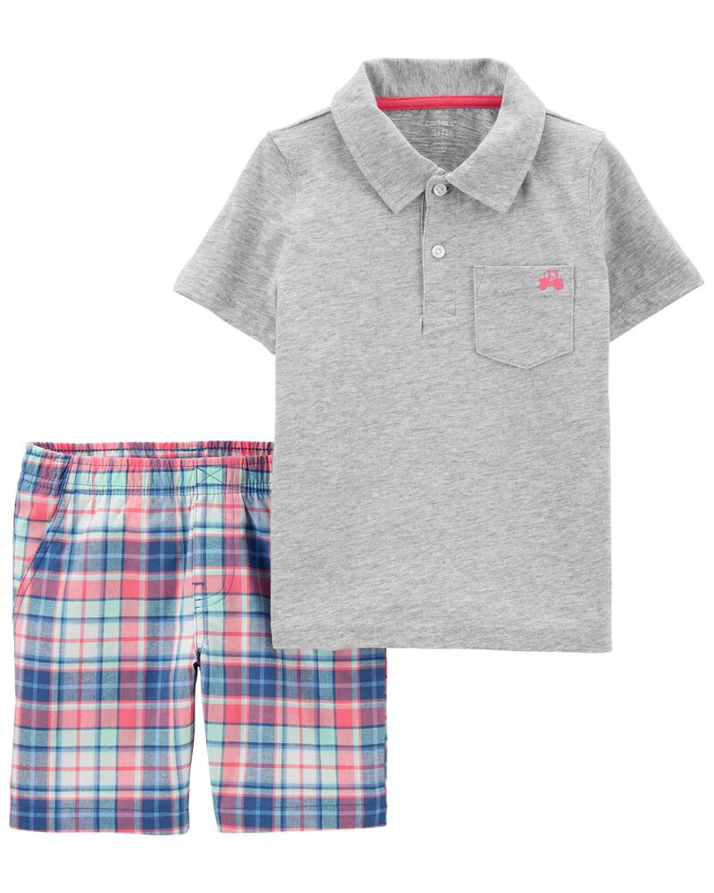 2-Piece Polo Shirt & Short Set, , hi-res