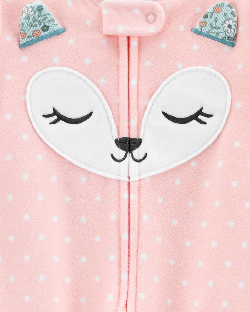 1-Piece Fox Fleece Footie PJs, , hi-res