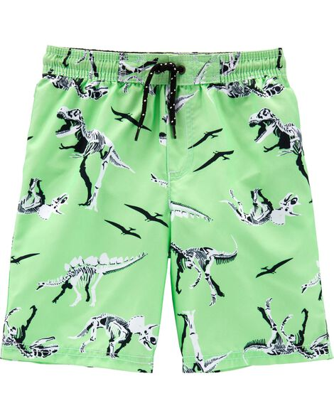 Dinosaur Swim Trunks