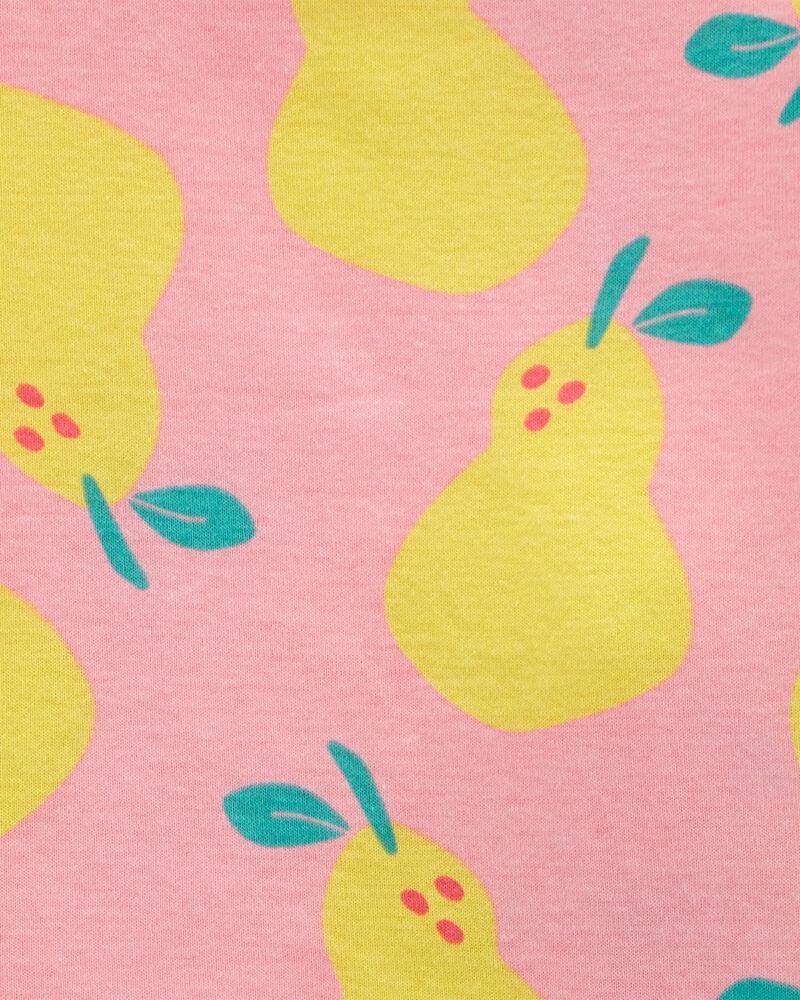 Pyjama 4 pièces en coton ajusté poire, , hi-res