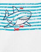 Ensemble 2 pièces haut Henley à requin et short, , hi-res
