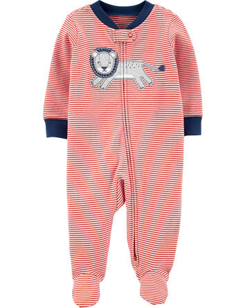Lion 2-Way Zip Cotton Sleep & Play