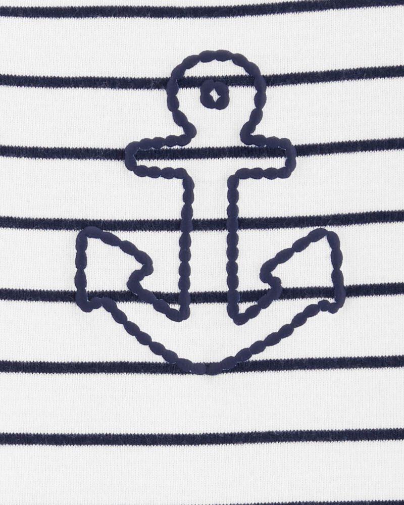 Ensemble 3 pièces short à motif d'ancre, , hi-res