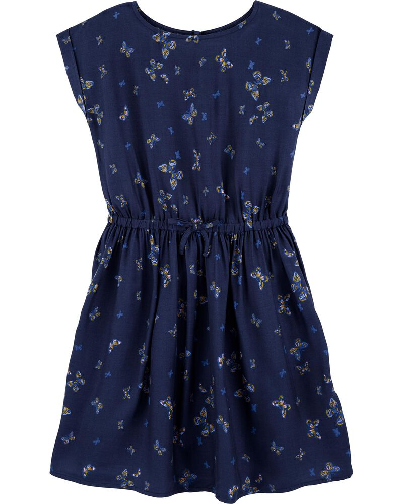Indigo Butterfly Dress, , hi-res