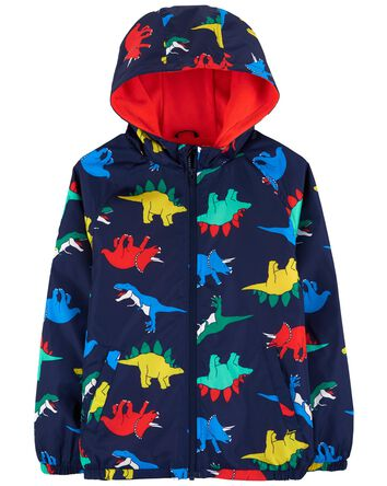 Dinosaur Jersey-Lined Windbreaker