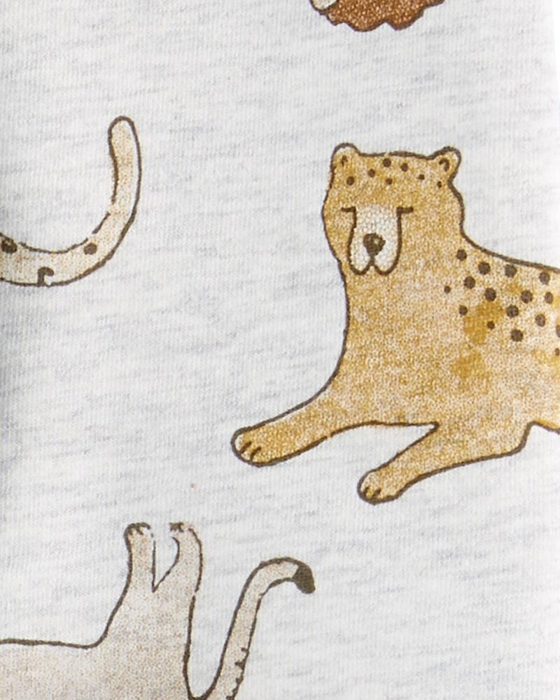 Ensemble 3 pièces haut et short tigre, , hi-res