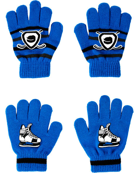 Emballage de 2 paires de gants hockey à paume antidérapante