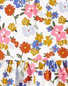 Ensemble 2 pièces cache-couche à basque fleuri et pantalon , , hi-res