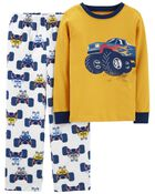 2-Piece Fleece & 100% Snug Fit Cotton PJs, , hi-res
