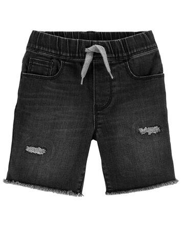Rip & Repair Knit Denim Shorts