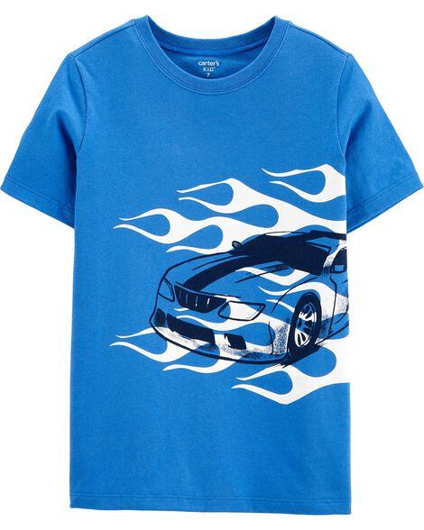 Flames Race Car Jersey Tee