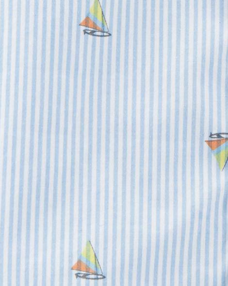 Chemise boutonnée à voiliers