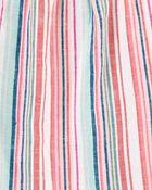Striped Linen Top, , hi-res