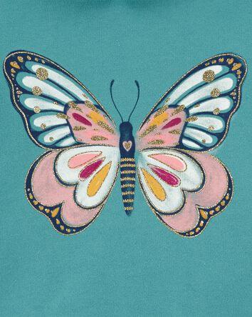 Haut à capuchon et papillon