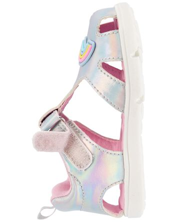 Sandales à arcs-en-ciel irisés