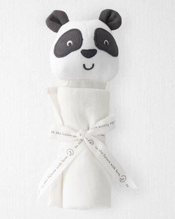 Organic Cotton Muslin Panda Lovie