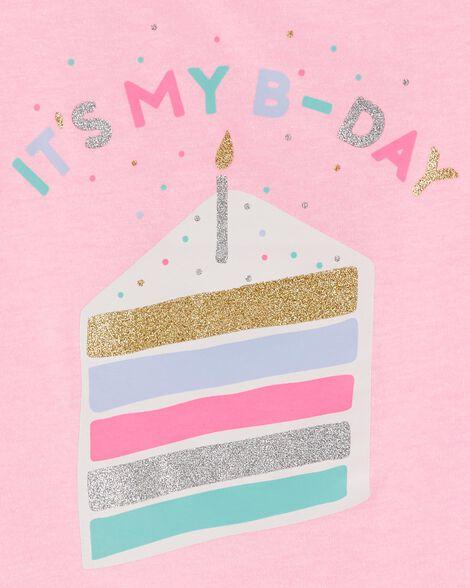 Neon Glitter Birthday Jersey Tee