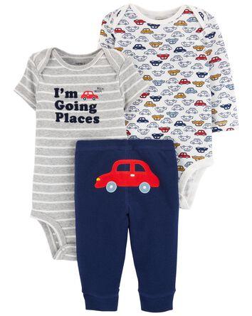 3-Piece Bodysuit Pant Set