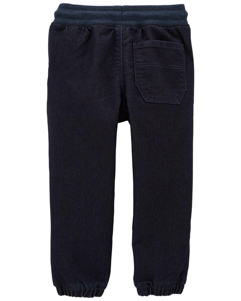 Pantalon de jogging en tricot de denim , , hi-res