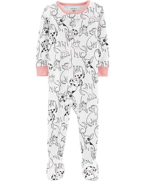 1-Piece Dog Snug Fit Cotton PJs