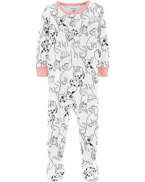 1-Piece Dog Snug Fit Cotton PJs