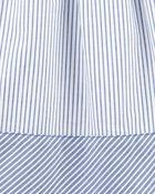 Striped Shirt Dress, , hi-res