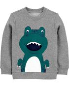 Dinosaur French Terry Pullover, , hi-res