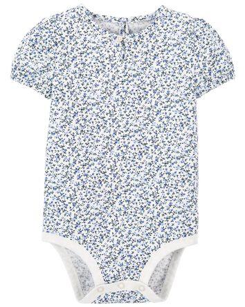 Floral Puff-Sleeve Bodysuit