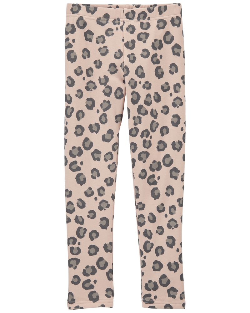 Leopard Cozy Leggings, , hi-res